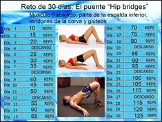 """Reto de 30 dias: El puente """"Hip bridges"""""""