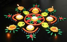 playdough rangoli pattern