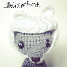 The cute big bad wolf wearing his sheep's hat. Big Bad Wolf, Sheep, Crocheting, Fox, Instagram, Beanie, Hats, Pattern, Handmade