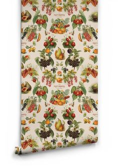 Sample The Fruit Growers Guide Wallpaper from the Erstwhile Collection by Milton & King Interior Wallpaper, Damask Wallpaper, Colorful Wallpaper, Designer Wallpaper, Wallpaper Designs, Boutique Wallpaper, Wallpaper Manufacturers, Australian Boutique, Pattern Matching