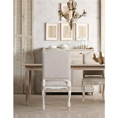 Eloquence® Provence Gesso Oyster Dining Chair
