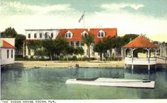 Cocoa House was an early hotel in downtown Cocoa Florida on the Indian River.  This image is from the State Archives of Florida.