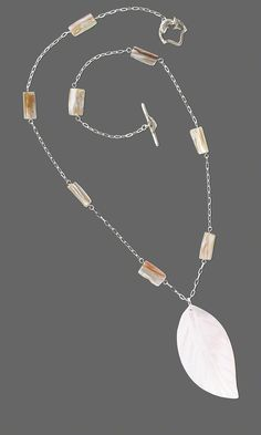 Jewelry Design - Single-Strand Necklace with Blister Pearl Shell Beads and…