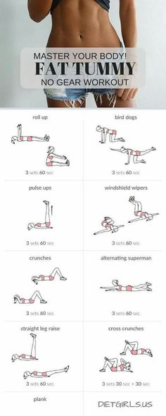 Flat Tummy no Gear Workout | Posted by: NewHowtoLoseBellyFat.com