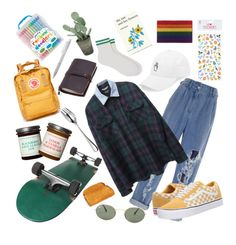 """""""*rainbow doodlers*"""" by scrobbinsa on Polyvore featuring Balmain, Vans, Ray-Ban, Robert Welch, Fjällräven, Accessorize, Maria La Rosa, Simon & Schuster and A by Amara"""