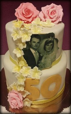 Tarta bodas de oro, 50 años juntos, toda una vida en pareja.