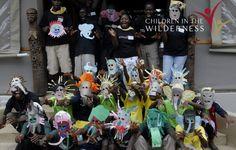 Paper-plate face masks from their art project March 2013, Paper Plates, Face Masks, Art Projects, National Parks, Halloween, Home Decor, Facial Masks, Art Designs