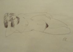 Nude line drawing | eBay find | StyleCarrot's personal art collection