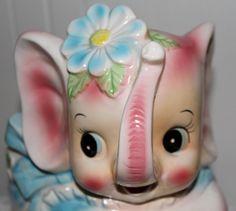 Vintage Baby Elephant Planter so cute.