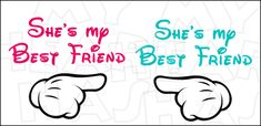 Mickey hands matching best friends INSTANT DOWNLOAD digital clip art DIY iron on transfer My Heart Has Ears. Imagine you and your BFF walking down Main Street at Disney with these awesome designs on your t-shirts!
