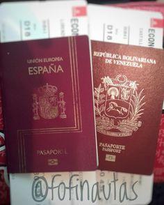 Pasaportes. Viajes. Venezolanos.