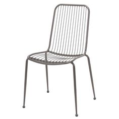 Spisebords stol i metal. Outdoor Chairs, Outdoor Furniture, Outdoor Decor, Wire Chair, Lounge Chair, Ikea, Vintage, Home Decor, Medium