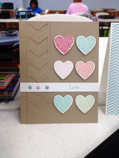 Love the subtle colors and design of Kara Briscoe's card.