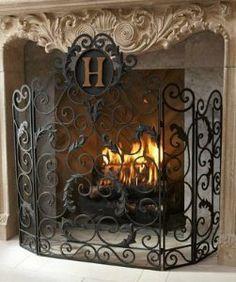 fireplace screen
