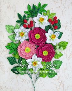Paper Quilling Patterns, Quilling Craft, Quilling Flowers, Quilling Ideas, Paper Art, Paper Crafts, Art Crafts, Felt Crown, 3d Pictures