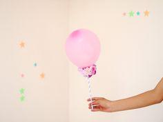 DIY flower balloon.