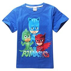 PJ Masks Cotton Short Sleeve T-shirt ** You can get more details by clicking on the image. We are a participant in the Amazon Services LLC Associates Program, an affiliate advertising program designed to provide a means for us to earn fees by linking to Amazon.com and affiliated sites.
