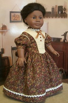 Civil War Day Dress made for American Girl Addy by Keepersdollyduds, via Flickr