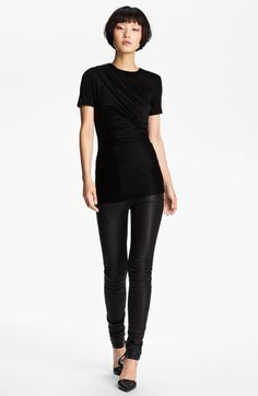 t-shirt love. T by Alexander Wang Piqué Double Knit Tee | Nordstrom