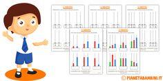 Tante schede con esercizi sull'abaco (anche vuoto) da stampare e completare sia a due cifre (decine e unità) che a tre cifre per bambini della scuola primaria Family Guy, Fictional Characters, Studio, Science Nature, Studios, Fantasy Characters, Griffins