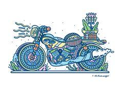 Dribbble - Motorcycle by Chris DeLorenzo