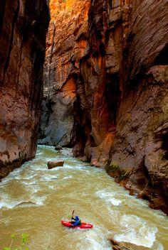 Kayaking the narrows