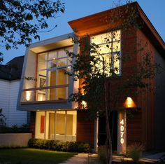 modern home. love their illuminated house number #canada