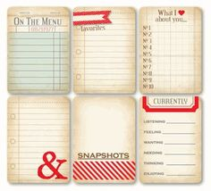 Free project life printables