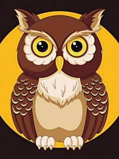 Mosaic Pictures, Owl Pictures, Mandala Art Lesson, Halloween Doodle, Owl Cartoon, Silhouette Clip Art, Paper Quilling Designs, Owl Crafts, Owl Art