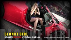 BLOND GIRL in Red Ferrari