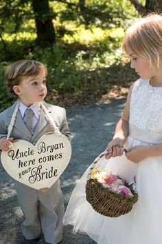 Ring Bearer & Flower Girl Perfect for Bruce: Hey daddy, here comes your Bride!