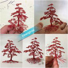 빨간 나무 #철사공예 #와이어아트 #와이어공예 #WireArt #WireCrafts #ワイヤーアート #針金細工 #はりがねさいく #Wiretree #WireWood #树 #에나멜선 #漆包线 #EnamelWire #エナメルワイヤa