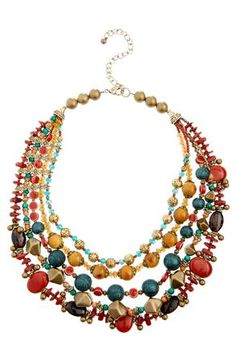 Cato Fashions Asymmetrical Beaded Necklace #CatoFashions