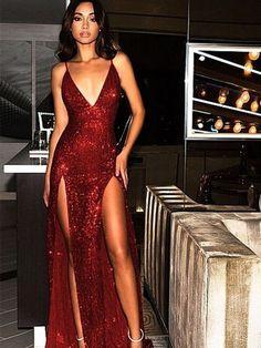 Cheap Prom Dresses Uk, Open Back Prom Dresses, Beautiful Prom Dresses, Formal Evening Dresses, Elegant Dresses, Homecoming Dresses, Dress Formal, Party Dresses, Red Tight Prom Dress