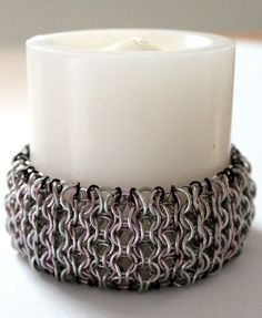 Chainmaille candle skirt