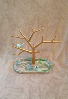 Necklace tree stand. Jewlery organizer. ring holder. Decorative jewlery tree. Jewlery Organizer gold. by GetORGANIZEDinStyle on Etsy https://www.etsy.com/listing/234271502/necklace-tree-stand-jewlery-organizer