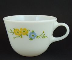 Vintage Pyrex Flirtation Coffee / Tea Cup Made by Corning
