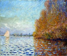 The Seine near Argenteuil, Claude Monet
