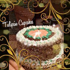 Carrot cake pastel de zanahoria casero 100% fresh homemade baking #tulipáncupcakes en facebook