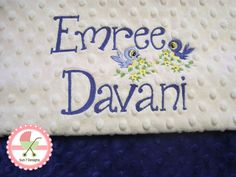 Personalized Minkee Baby Blankets at www.sun7designs.com Check us out on Facebook at www.facebook.com/sun7designs