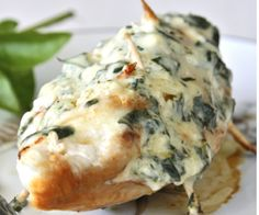 chicken breasts with parmesan and basil filling