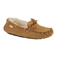 Slippers International  Yosemite Moccasin ($60) ❤ liked on Polyvore featuring shoes, loafers, chestnut, loafers & moccasins, moccasin style shoes, mocasin shoes, slippers international and mocassin shoes