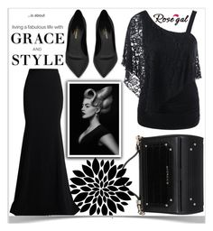 """""""Rosegal"""" by kiveric-damira ❤ liked on Polyvore featuring Roland Mouret, Givenchy and Yves Saint Laurent"""