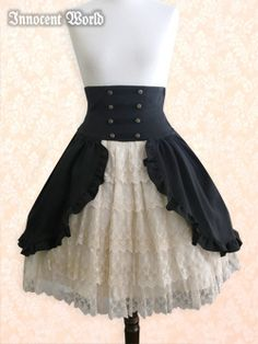 Found at Innocent World.  A fun skirt with frills and lace and cute buttons but still elegant and not over done.