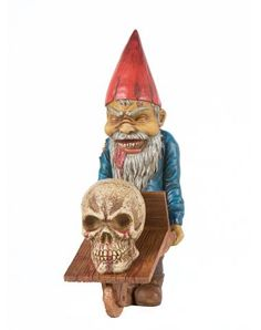 Male Zombie Gnome only at Spirit Halloween - Keep the neighbors off your lawn or even keep the neighborhood stray cats out of your garden when you decorate with this creepy Male Zombie Gnome. This zombie gnome decoration stands over a foot tall featuring amazing detail. Get yours for $39.99.