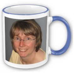 How To Put Your Picture on a Coffee Mug (that's Brenda, but you can use your own picture - cool!)