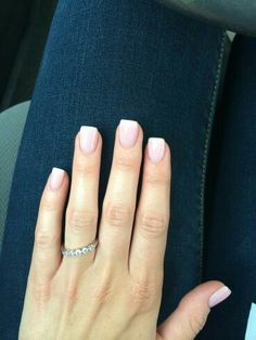 Very short nude nails