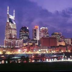 Nashville Night Skyline! @Nikki Cherry  I thought of you!