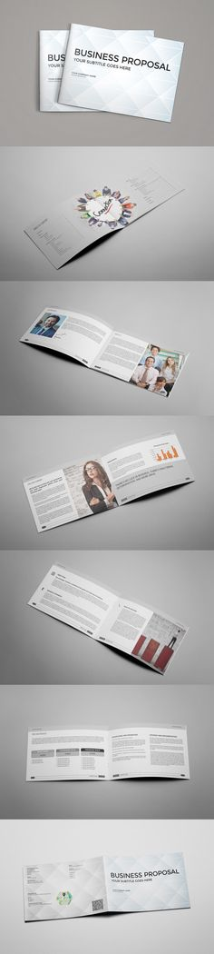 18 Pages Landscape Proposal Template Indesign Indd A4 Size And Us