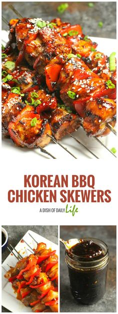 A little sweet and a little heat makes for a flavorful marinade and delicious BBQ sauce on these Korean BBQ Chicken Skewers!